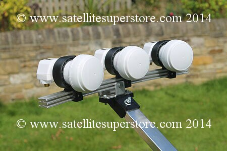 3 LNB, 3 satellite kit