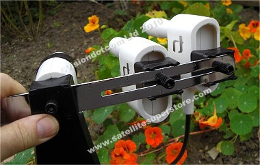 Inverto 4 satellite Multiconnect Kit. Easy to adjust LNBs