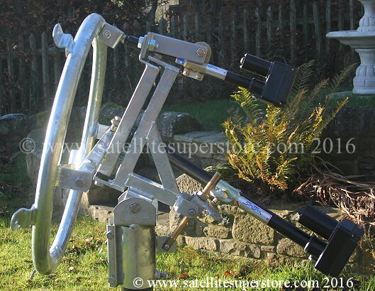 Primesat inclined orbit polar mount with actuator