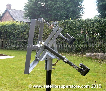 Inclined orbit polar mount for Raven 1.8m dish