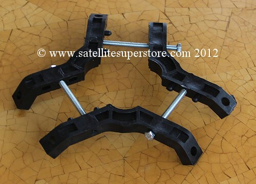 Feed support clamp for C Band LNBF and C band feedhorns.