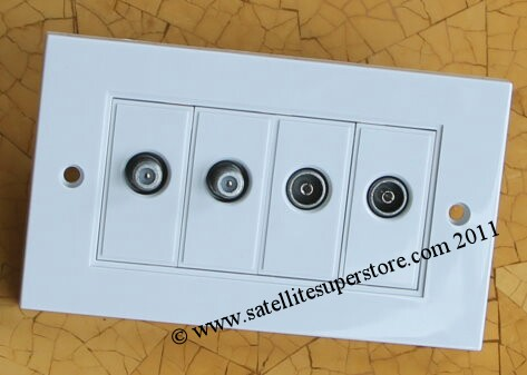 Modular outlet plates. Build your own options
