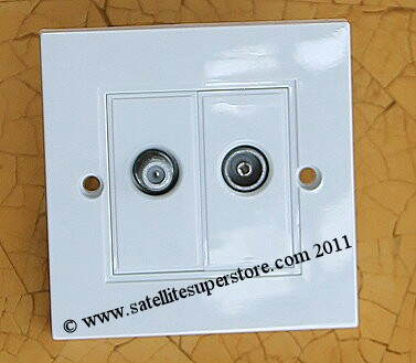 Modular outlet double plate