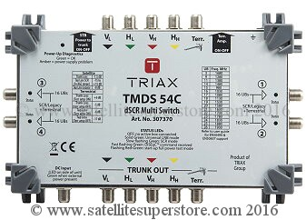 Triax Sky Q dSCR multiswitches 5 in and 4 out.