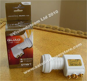 Titanium 0.1dB LNB quad boxed